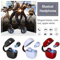 TWS Bluetooth Headset 5.0 Leather Mini Car Wireless Wireless Bluetooth Headset Stereo Handfree Sports Bluetooth Earphone