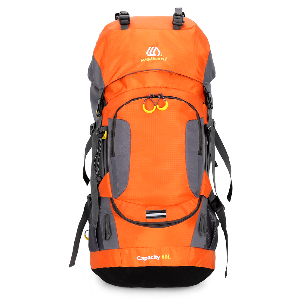 60L Waterproof Hiking Backpack Travel Camping Mountain Climbing Cycling Multifunction Backpack Outdoor Sport Bag with Rain