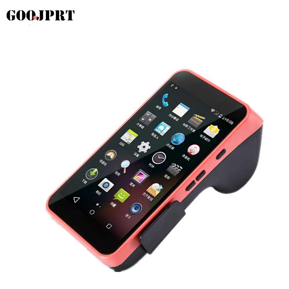 Free shipping Handheld POS Terminal Android PDA with built in thermal Printer 1D CCD Barcode Scanner For Android Tablet Pc