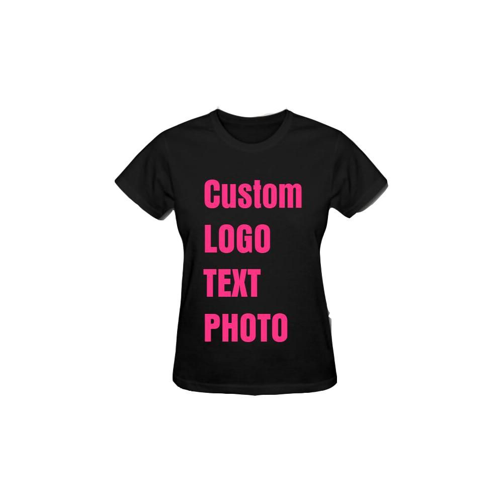 339fd955fb631 Women T-shirt Custom Personalised Print Logo Text Photo Diy Casual Tee Tops