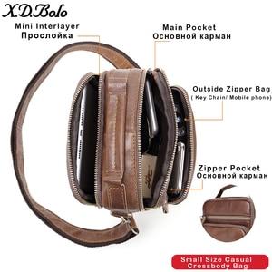 Image 2 - XDBOLO 2020 Bag Leather Shoulder Bag Single Strap Messenger Bag Solid Crossbody Bag for Mens Wholesale