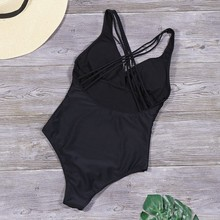 Solid One Piece Swimsuit Sexy Backless Bathing Suits Women Swimwear Summer Beachwear Plus Size Bikinis Female Body Suit