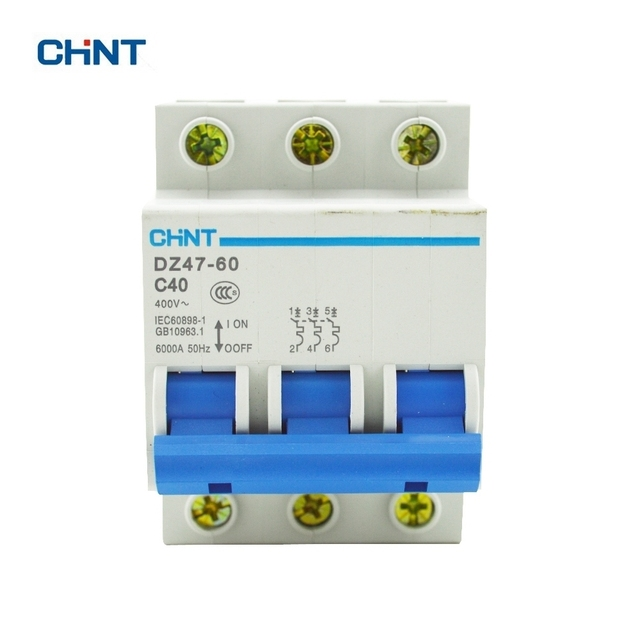 chint circuit breakers dz47 60 3p 40a coil voltage 230 440v c40 air rh aliexpress com