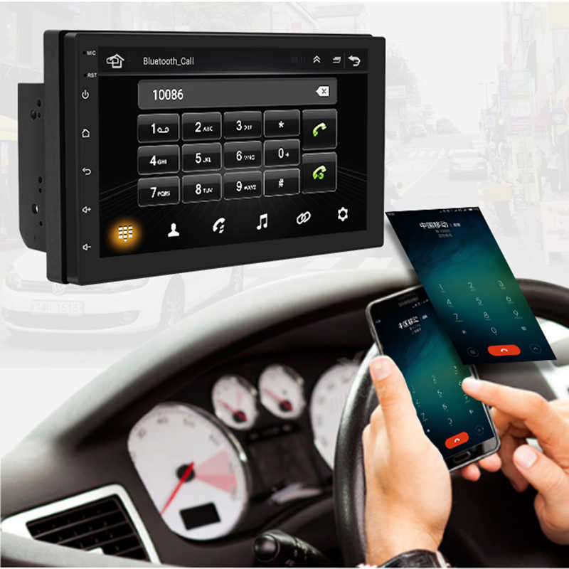 7 pulgadas Android8.1 2 Din Car DVD radio Multimedia Player navegación GPS Universal para N s a n p u e g e o t toyota doble din