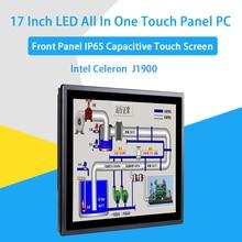 17 дюймов IP65 промышленная сенсорная панель ПК, все в одном компьютере, 10 точек емкостный TS, Windows 7/10, Linux, Intel J1900, [HUNSN DA16W]