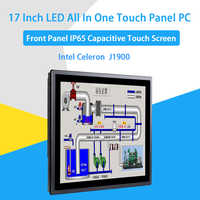 17 zoll IP65 Industrie Touch Panel PC, Alle in Einem Computer, 10 Punkte Kapazitive TS, windows 7/10, Linux, Intel J1900, [HUNSN DA16W]
