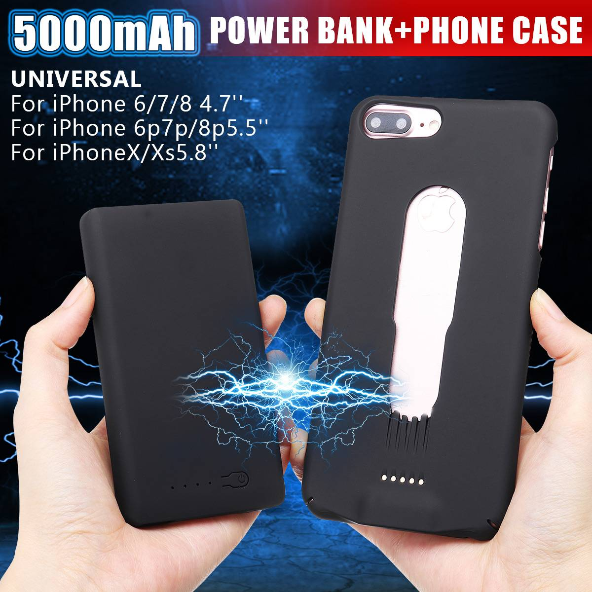 Phone Bags & Cases Leory Battery Charger Cases For Iphone 6 6plus 7 7plus 8 8plus X 5000mah Portable Power Bank Backup Charger Case