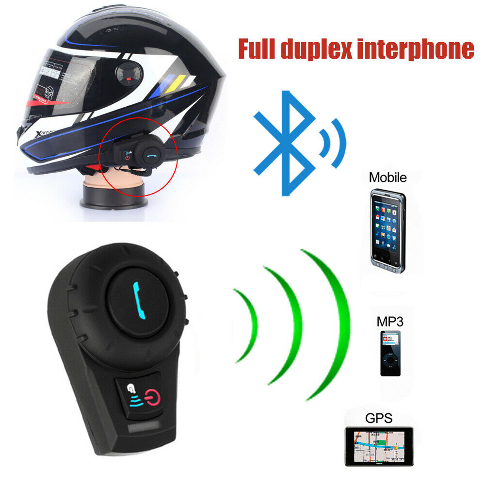 Motorcycle Helmet Headset Communication-System Interphone Bluetooth-Intercom title=