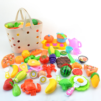 42Pcs Children Pretend Play Kitchen Toys Peelable Fruits Vegetables Series Set with Basket for Kids Learning Cooking Skills kits