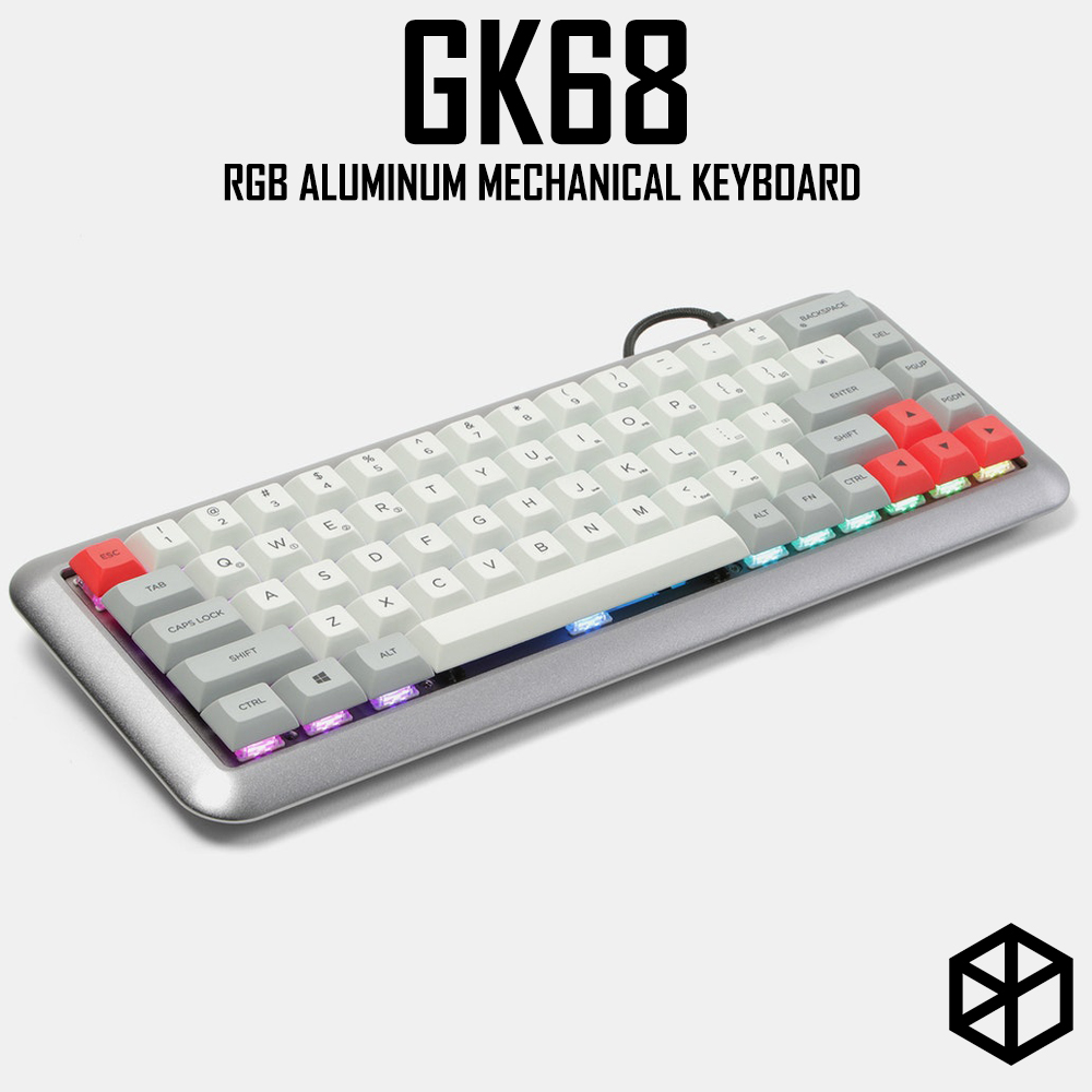 GK68 RGB Aluminum Mechanical Keyboard Cherry Rgb Blue Brown Black Red Switch Type C Hot Swappable Switch With Dye Subbed Keycap