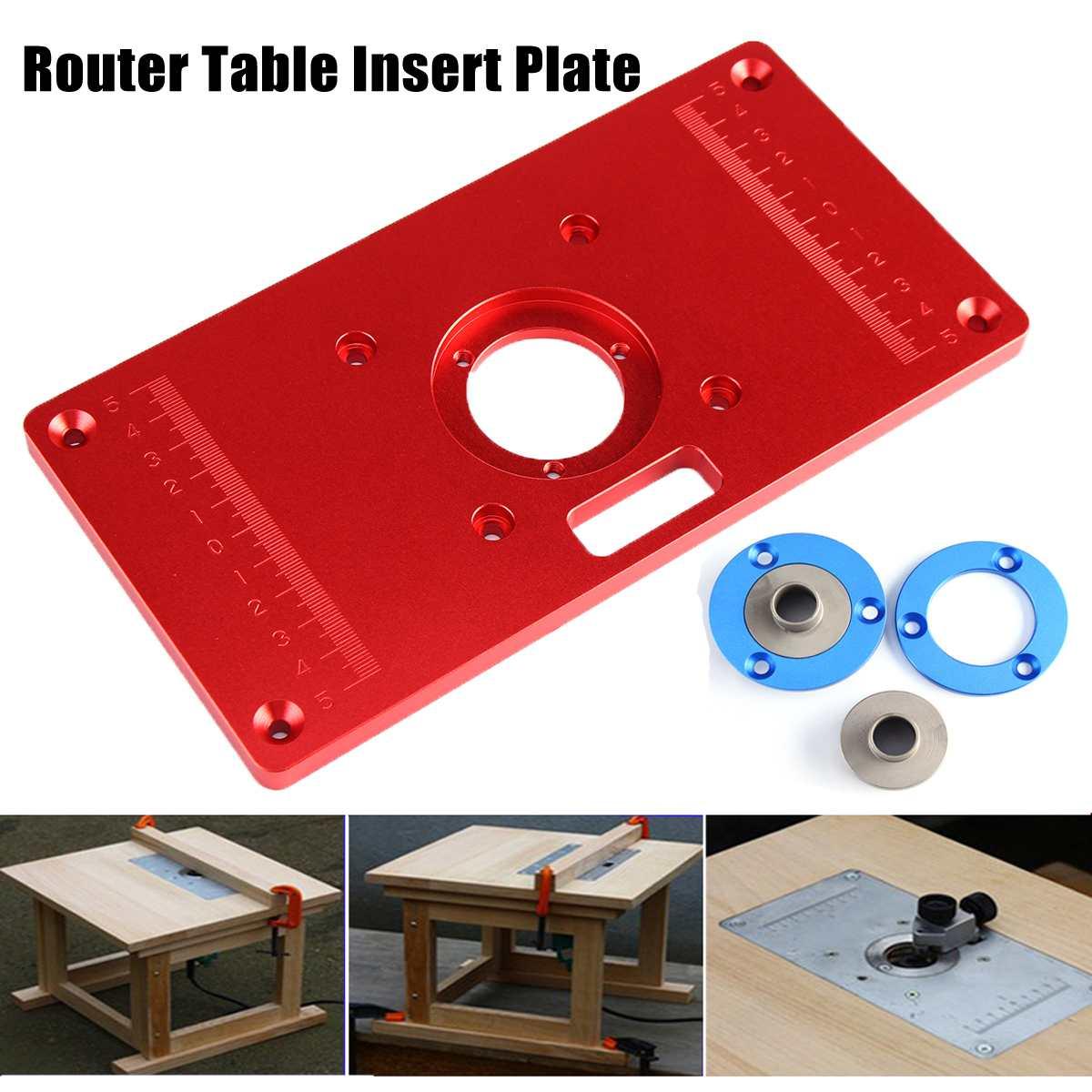 Haute qualité 235x120x10mm universel routeur Table Insert plaque pour bricolage bois routeur tondeuse modèles Machine de gravure