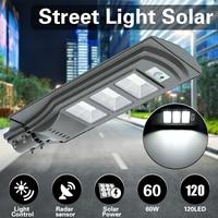 Mising 60W Solar Street Light 120LED 2835SMD 6V 12W Solar Power Outdoor Light with Light Control Radar Sensor Grey Pathway Lamp