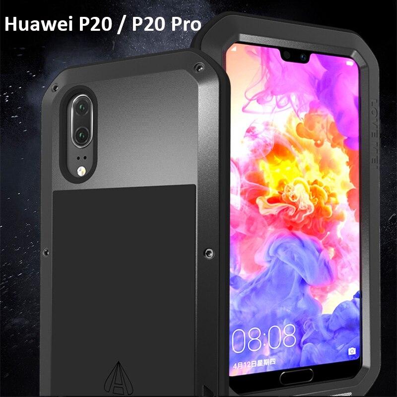 P20 Pro armure métal antichoc étui pour Huawei P20Pro aluminium vie étanche à la poussière couverture pour Huawei P 20 P20 Pro sac de téléphone
