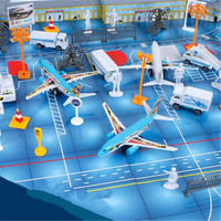 New 200PCS Airport Assembled Toys Set Airplane Aircraft Models Transformation Toy for Children Gifts