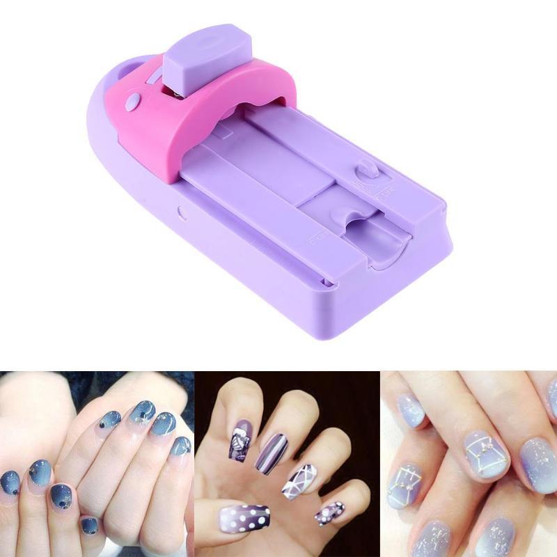 Nail Art Printer: 1pc Nail Art Printer Easy Printing Pattern Stamp Manicure