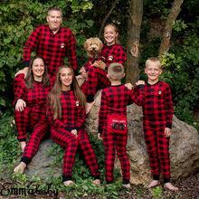 Brand New Family Matching Christmas Pajamas Set Women Kids Santa Sleepwear Nightwear