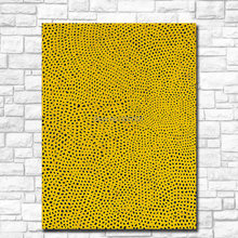 Handmade Oil Painting Wall painting Yayoi Kusama NET-NO.2 YELLOW Home Decor Wall Art Picture For Living Room painting No Frame(China)