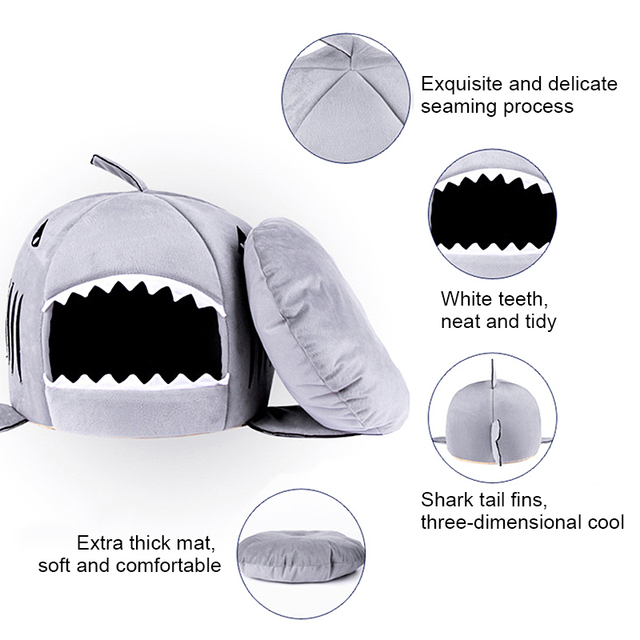 Shark Shaped House for Cats 4