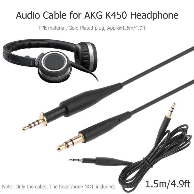 ALLOYSEED 150cm Audio Extension Cable 2.5mm Male To 3.5mm Male Converter Adapter For AKG K450 Q460 K480 K451 Headphone Headset
