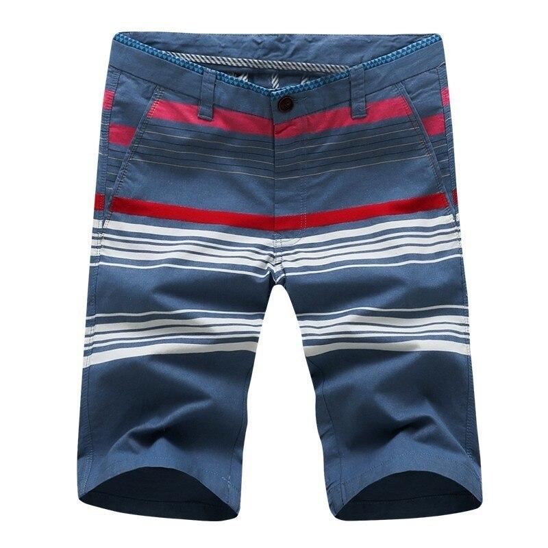 My Fashioner 2019 Summer New Smart Casual Striped Washed Denim Cotton Shorts Men Knee Length Vintage Short Jeans Plus Size 38