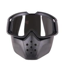 LumiParty мотоциклетные ретро очки Спорт на открытом воздухе Анти-песок со съемным мотоциклетным фильтром рот очки маска