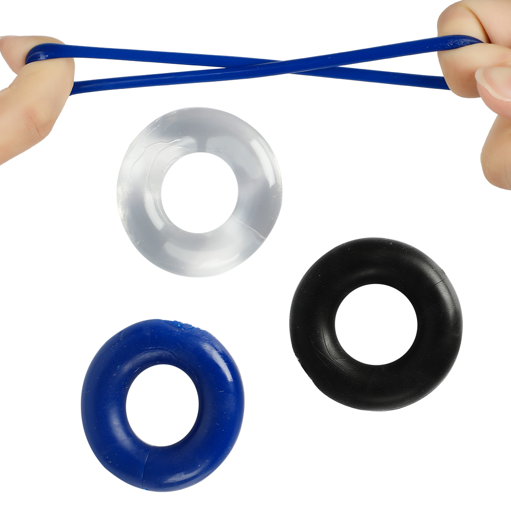 3pcs Stretchy Stay Hard Beaded Cockring Penis Enhancer Ring Delay Ejaculation Penis Trainer <font><b>For</b></font> <font><b>Men</b></font> <font><b>Sex</b></font> <font><b>Toys</b></font> Male <font><b>Adult</b></font> Products image