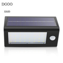 Dcoo 32LEDs Solar Lights Infrared Motion Sensor Super Bright Wall Lamp Garden Yard Security Spotlight IP65 Waterproof Outdoor