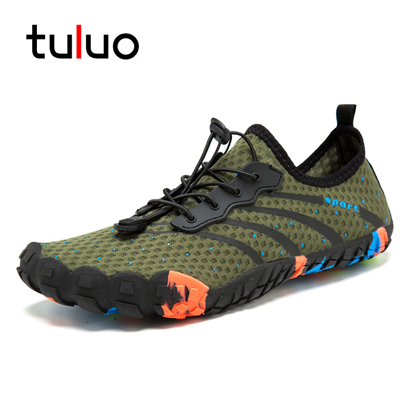 Camping & Hiking Quick Dry Water Shoes Men Outdoor Summer Barefoot Breathable Man Swimming Sport Sneakers Sea Beach Male Aqua Shoes Black