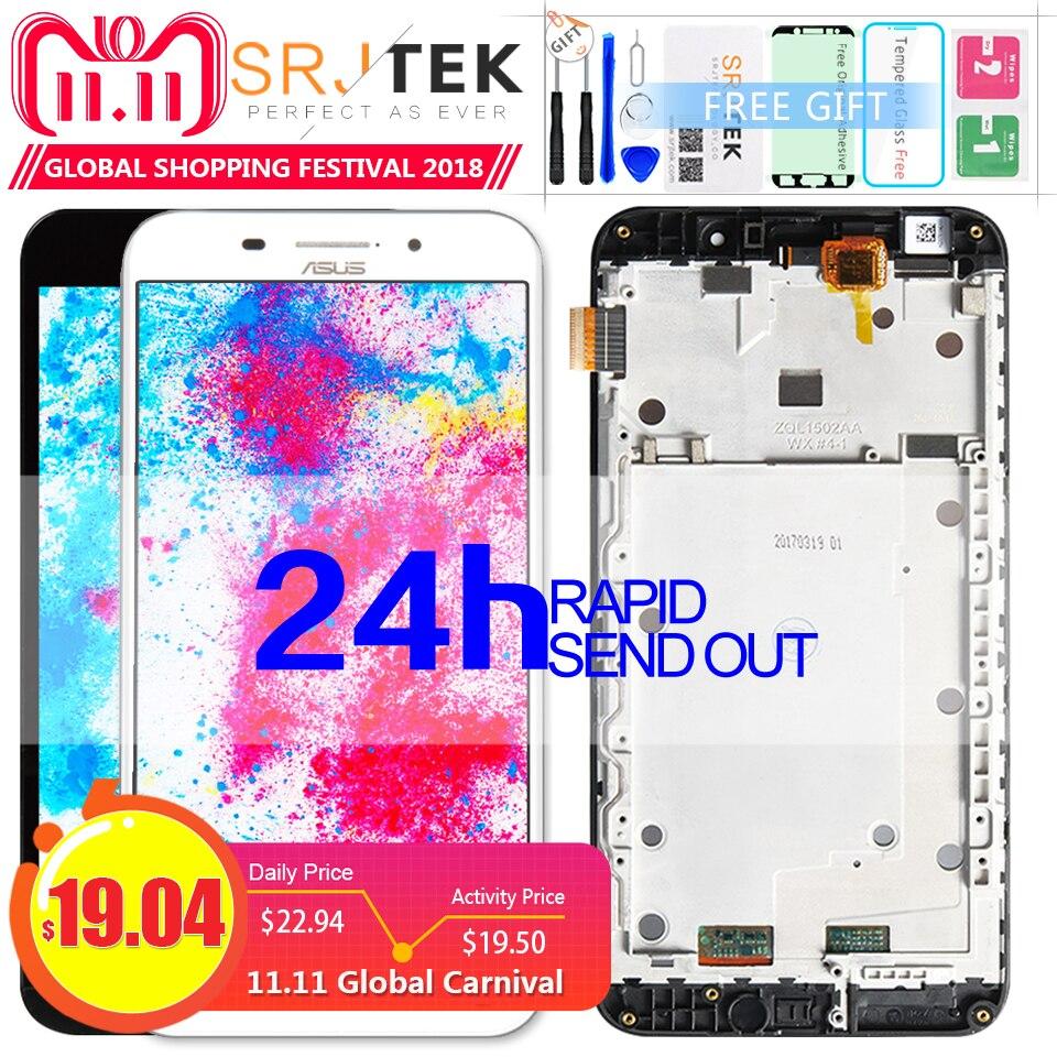 Srjtek Bildschirm Für Asus Zenfone Max ZC550KL LCD ZenFone 5000 Z010DA LCD ZC550KL Display Touch ZC550KL Glas Rahmen 5,5'' 1280*720