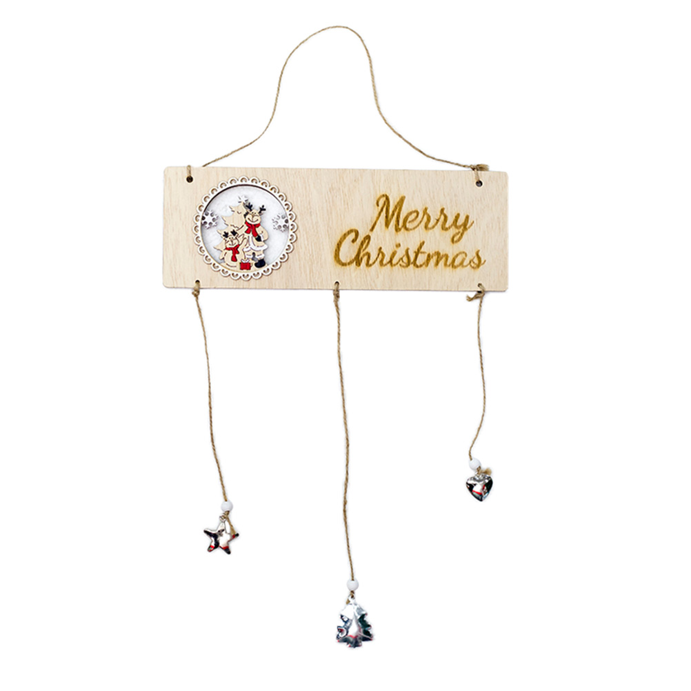 Christmas door signs new year xmas door wall hanging wind chimes decorations for home office cafe restaurant elk