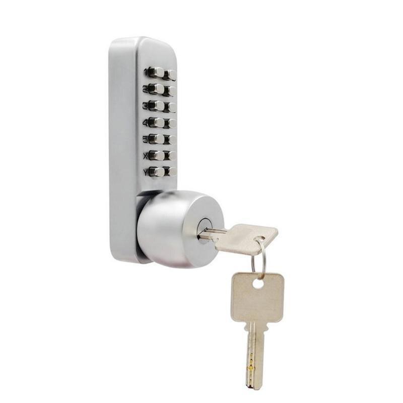 Serrure de porte numérique mécanique avec clés en alliage de Zinc bouton-poussoir Code d'entrée serrure à combinaison sécurité à domicile matériel de meubles