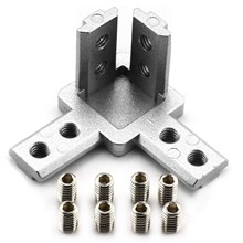 4-Pack 3030 Series 3-Way End Corner Bracket Connector,With Screws For Standard 8Mm T Slot Aluminum Extrusion Profile