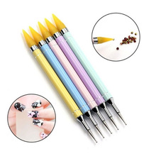 1pcs Wax Picker Rhinestone Dotting Pen Dual-ended Beads Handle Nail Art Tool Crystal Dot Pro Decoration Pencil Manicur