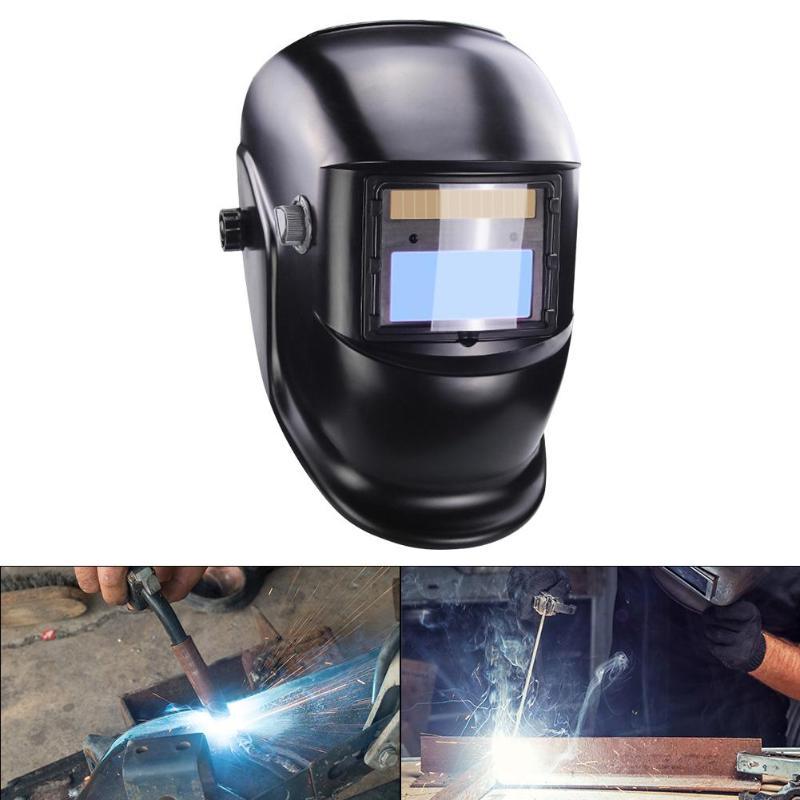 Solar Automatic Darkening Welding Helmet W/ Wide Shade Range 9-13 For TIG MIG MMA  Welding Mask Shield Cap