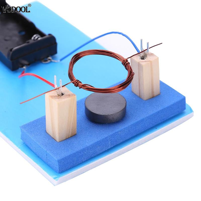DIY DC Electric Motor Plastic Metal Students Science Experiment Equippment Blue Easy Control New Material Child Educative Toys