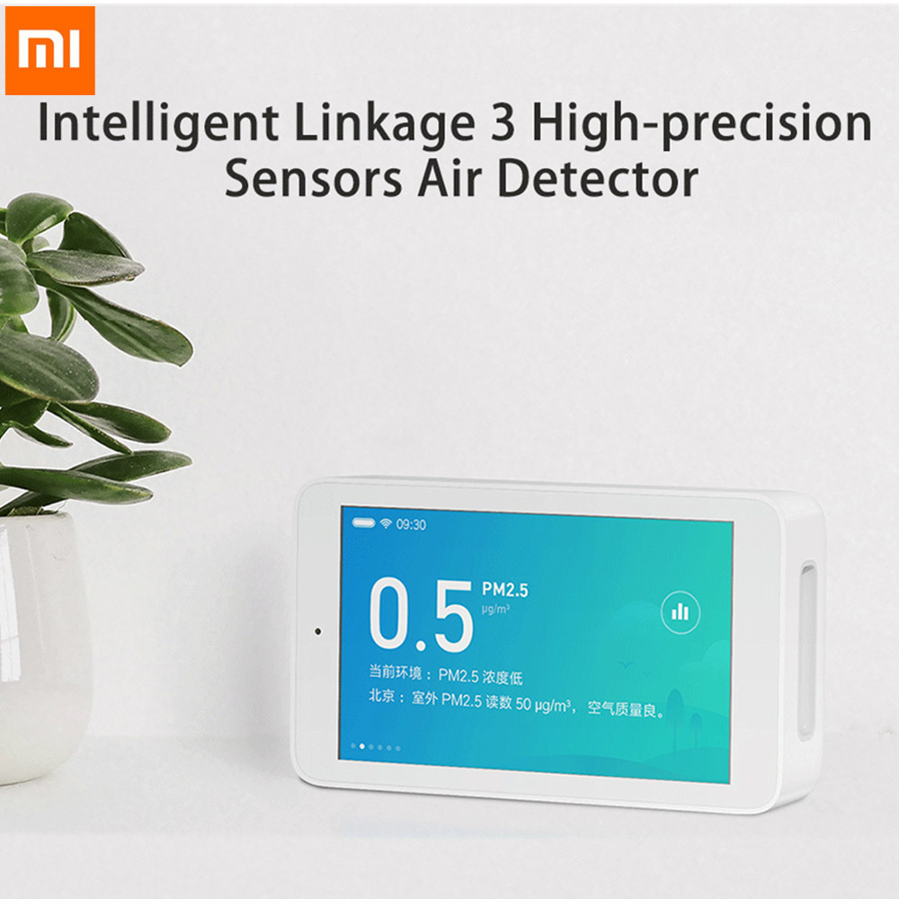 Original Xiaomi Mijia Air Detector High precision Sensing 3 97inch Touchscreen USB Interface PM2 5 Tester