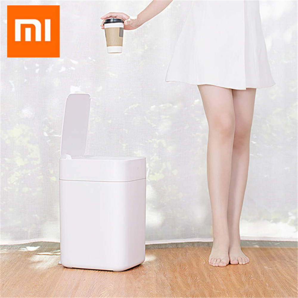 Home Appliance Parts Original Xiaomi Townew T1 Smart Trash Can Motion Sensor Auto Sealing Led Induction Cover Trash 15.5l Mi Home Ashcan Trash Bins To Have A Unique National Style