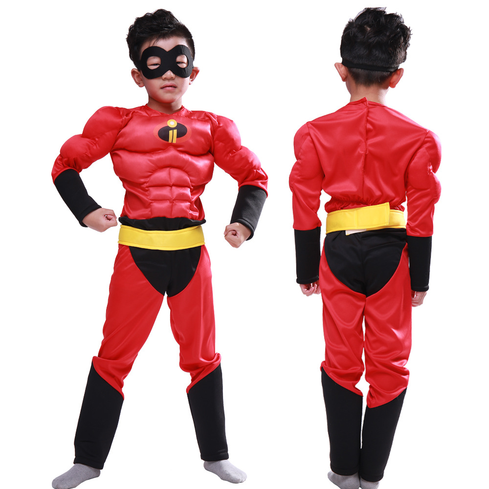 new Movie Halloween Child Boy t shirt Classic Ultimate The Incredibles Muscle Cosplay Halloween Superhero Costume