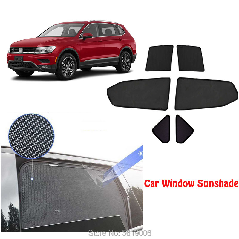 6pcs High-end Custom For Volkswagen Tiguan 2013-2018 Card Type Magnetic Car Curtain Sun Shade Car Window Shade Car Styling