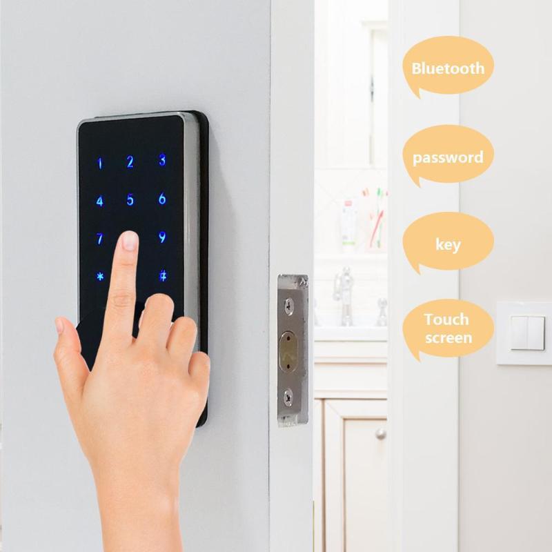 Serrure électronique de mot de passe de porte APP téléphone portable Bluetooth serrure électronique intelligente de porte écran tactile serrure de mot de passe poignée de porte de sécurité