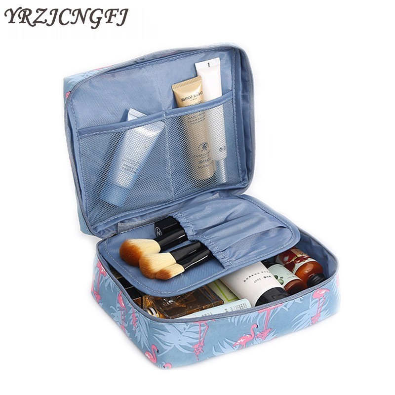 Fashion New Women Cosmetic Bag High Quality Make Up Bag Portable Travel Waterproof Neceser Beauty Case Wash Pouch Toiletry Kit