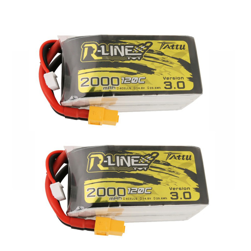 1/2PCS TATTU 14.8V 2000mAh 120C 4S Lipo Battery XT60 Plug for RC FPV Racing Drone Models Spare Parts Accessories image