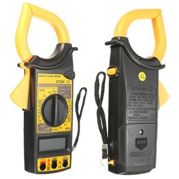 DT266 Elektrische LCD Digital Multimeter Clamp Meter AC/DC Strom Spannung Tester Auto Range Pinzetten Voltmeter Amperemeter Volt Tester