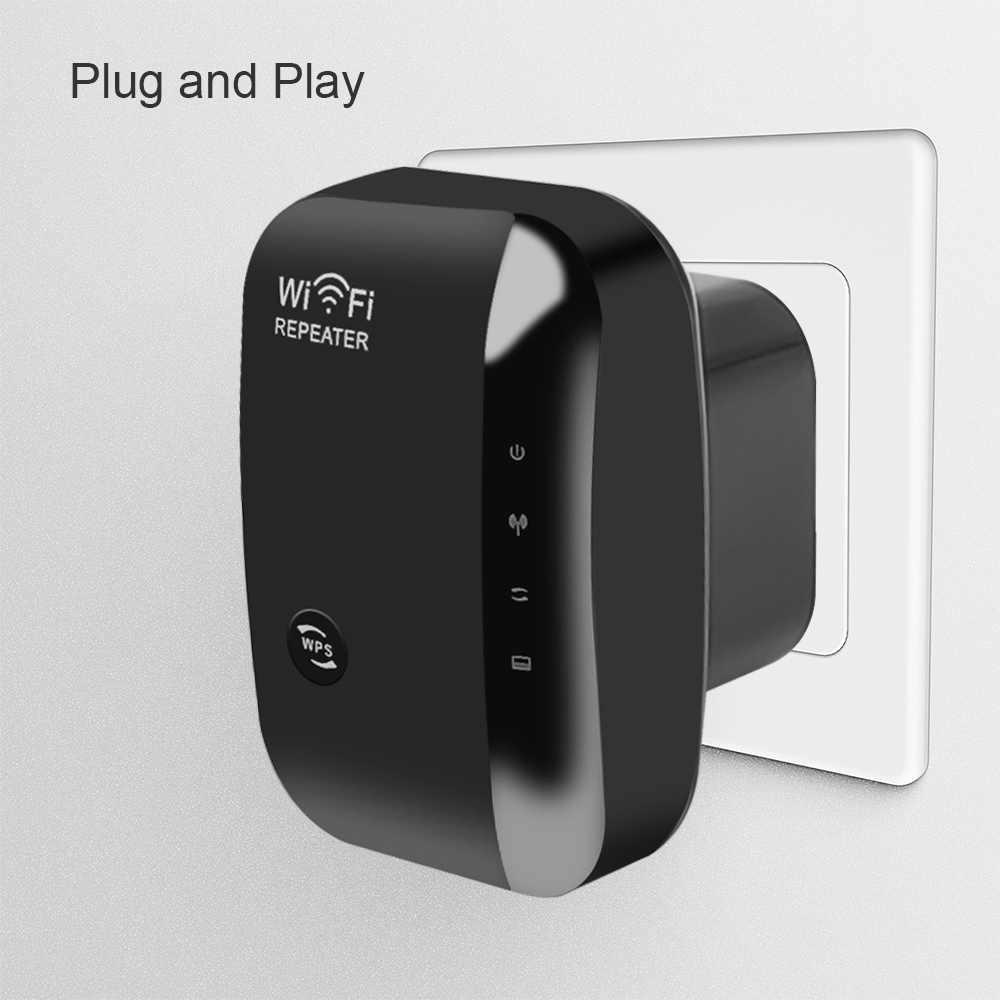 Repetidor Wifi inalámbrico Kebidu N300 enrutadores WiFi 802.11n/b/g de red 300Mbps amplificador de señal Ampliador WIFI Ap Wps cifrado