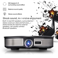 3500lumen 300 inch Projector 4K Android 6.0 WIFI Portable 3D LED Mini Projector