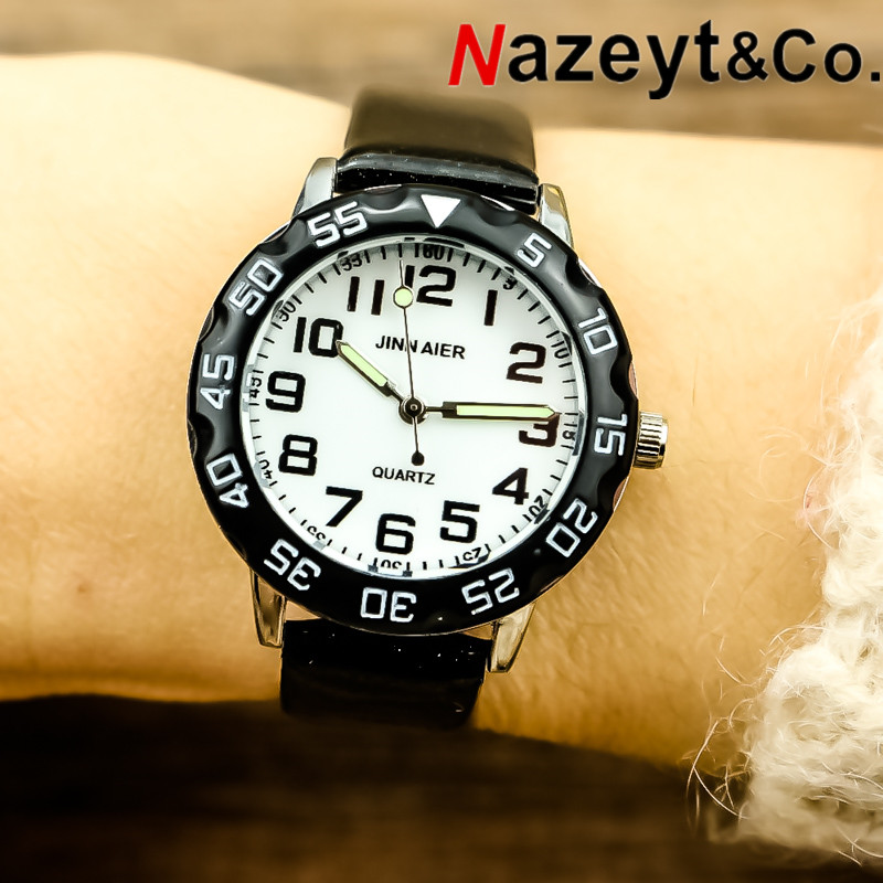 Nazeyt New Fashion Boys And Girls 3D High Quality Luminous Hands Quartz Watch Student Children Sport Watch Gift Clock Reloj Infa