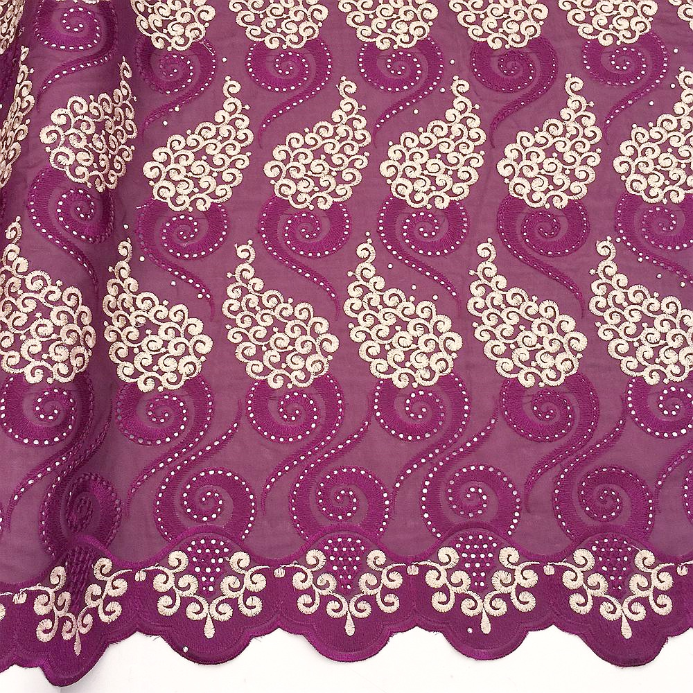White Dry Nigerian Lace Fabric 2018 High Quality African Lace Fabrics Magenta Swiss Cotton Voile Laces Switzerland For African in Lace from Home Garden