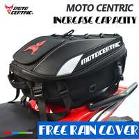 MOTOCENTRIC Motorcycle Scooter Sport Luggage Rear Seat Rider Tail Bag Helmet Pack Bag Large Capacity Travel Luggage Waterproof