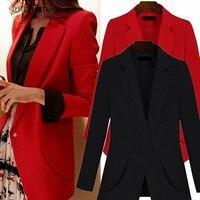 e4de3f6da0 Plus Size XL 5XL Loose Jacket 2019 Spring Women Slim Office Lady Coat Casual  Long Sleeve
