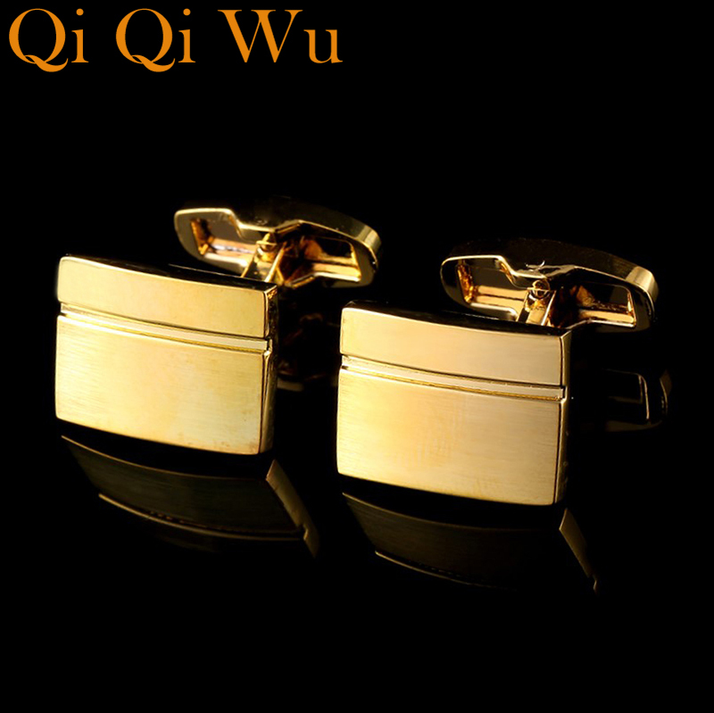 2017 New Arrive Luxury Shirt Cuff link for Men's Gifts Unique Wedding Gold Cufflinks For Mens Business Gift Suit Sleeve Buttons